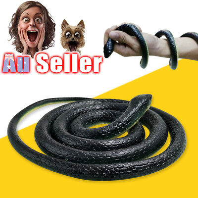 130cm Rubber Snakes Realistic Trick Simulation Whimsy Fake Garden Pretend  Toy
