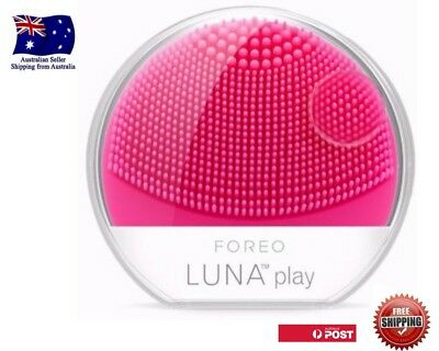 FOREO LUNA Play Electric Facial Cleansing Brush Fushia Pink New Free Post