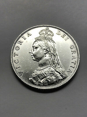 1887 Great Britain Florin Silver Unc #13161