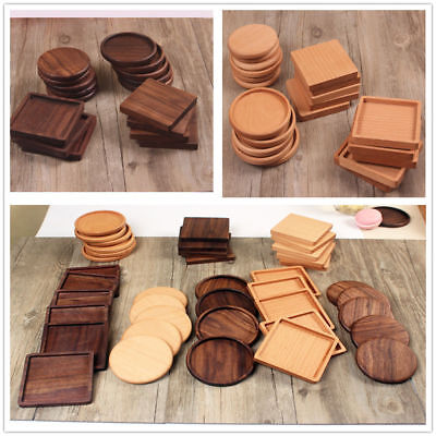 Wooden Heat Insulation Tea Coasters Cup Holder Mat Pads Water Drinks Placemats