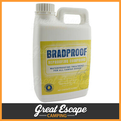 Bradmill BradProof Water Proofing Treatment for Canvas - 2 Litres