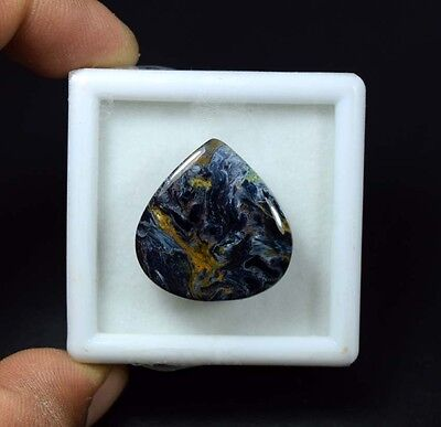 27.85 Cts. 100 % Natural Chatoyant Pietersite Pear Cabochon Untreated Gemstones