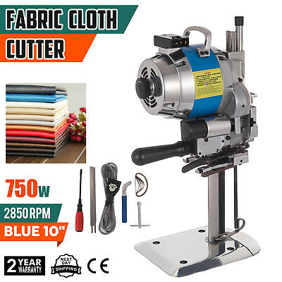 Fabric Cloth Cutter Blue 10'' Cutting Machine Cutter Electric Knife Stable 750W