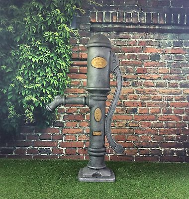 Garden Pond Village Pump Replica Cast Iron Effect / Ready Fitted With 25mm Hose