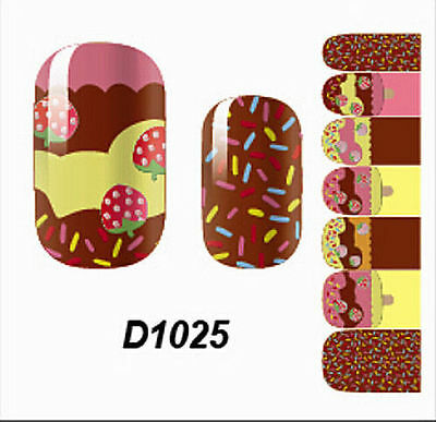 Nail Wraps Accessories Adhesive Polish Foils Art Decals Strawberry Stickers BCL