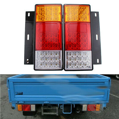 2PCS Left/R Side Rear Tail LED Light Lamps For ISUZU Elf Truck NPR NKR NHR 1984+