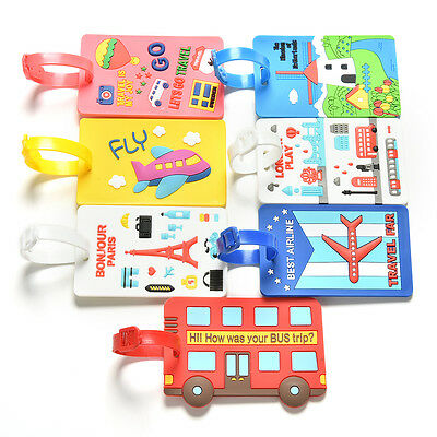 Cute Luggage Tags Strap Name Address ID Suitcase Baggage Travel Label Tags