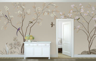 Peaceful Chinoiserie3 Custom Made Canvas Removable Living Room Wall Sticker