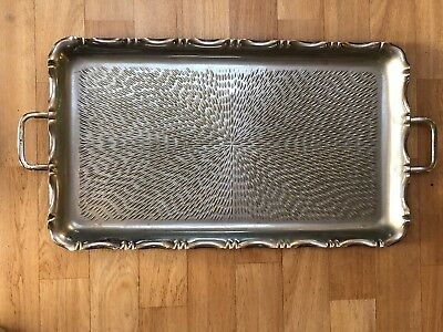 Hammered Wine Tray French Art Nouveau Style Vintage Retro Bar Wine Serving Drink