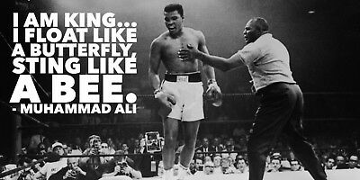 Muhammad Ali professional boxer Motivation Fitness poster Choose your Size