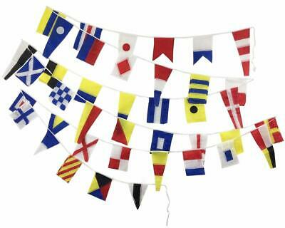MARINE NAVY Signal Code FLAG - String of 40 flags Bunting -12 Feet - Beach Party