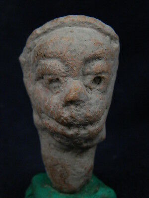 Ancient Teracotta Head Bactrian 300 BC  #TR656
