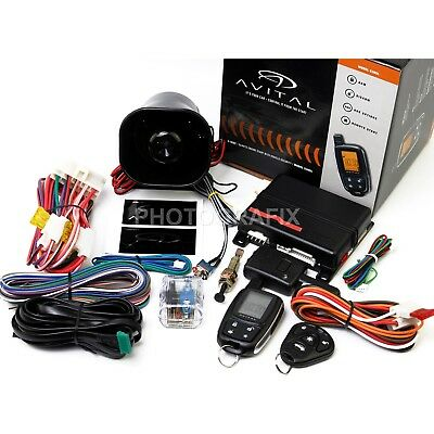 2-Way LCD Remote Auto Car Starter & Alarm & Bypass Module for Acura,Lexus,Honda