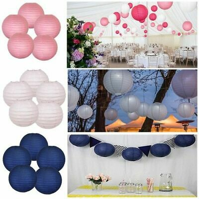 8pcs NEW Round Paper Lanterns Lamp Shade Wedding Birthday Party Hanging Decor