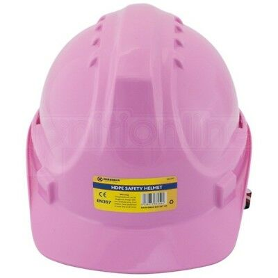 Pink Safety Helmet Adjustable Construction Hard Hat Climbing Head Protector