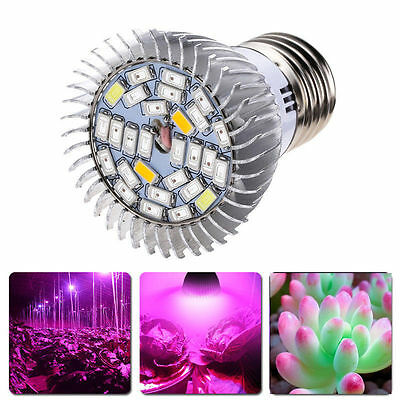 Full Spectrum 28W E27 LED Grow Light Kit Hydroponics Plant Veg Flower Lamp Bulb