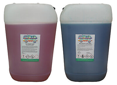 Blue & Pink Chemical Motorhome & Caravan Toilet Fluid Cleaner & Protector - 50L