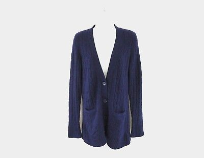 b873a9e5430 SAKS FIFTH AVENUE 100% Cashmere Open Front Cardigan Sweater Size S P ...