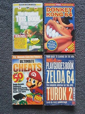 4 Nintendo 64 Cheat / Guide Books Instruction Booklets - Vintage Gaming History