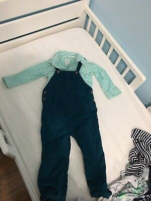 Country Road Toddler Boy Shirt and Overall Next UK brand size 12-18 Months