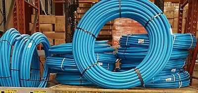 Water Pipe Blue WRAS 12.5Bar MDPE Plastic Coils 25 50 100mtrs 20mm 25mm 32mm O/D