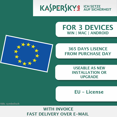Kaspersky Internet Security 2018 EU 3 Devices, Multi-Device KEY ESD ]
