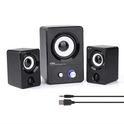 USB Powered Computer Speakers Stereo System Laptop Desktop PC Gaming Music Movie