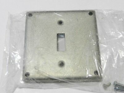 "Steel City Single Gang Metal Conduit Box Electrical Switch Cover Plate 4"" Square"