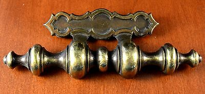 "Vintage Large KEELER BRASS N6698 Handle/Pull CAST BRASS Screw Holes 3"" A+Quality"