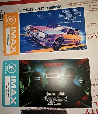 Ready Player One Regal IMAX Collectible Ticket SET with Poster CODES (Week 1+2)