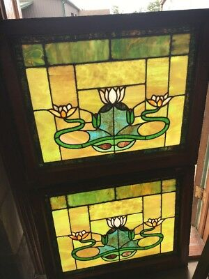 Sg 2330 2 Av Price each stained glass Lillypad window 26.75 x 32W