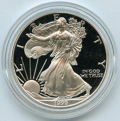 1999 P American Eagle One Ounce SILVER PROOF Dollar - 1 oz Coin