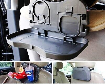 By TRIXES Foldable Pop-Out Car Pocket with Folding Tray and Cup Holder