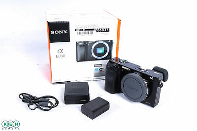 Sony Alpha A6000 Mirrorless Digital Camera Body, Black {24.3 M/P}