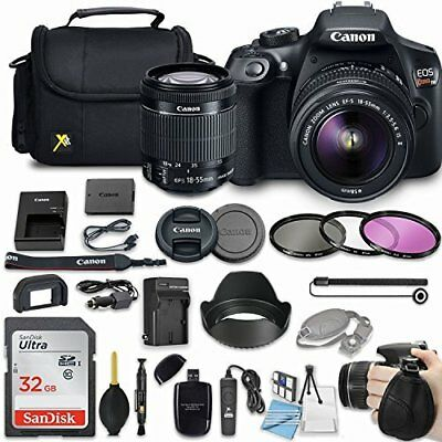 Canon EOS Rebel T6 DSLR Camera Bundle with Canon EF-S 18-55mm IS II Lens
