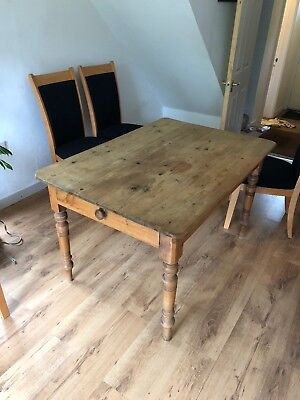Genuine Victorian solid pine Farmhouse table