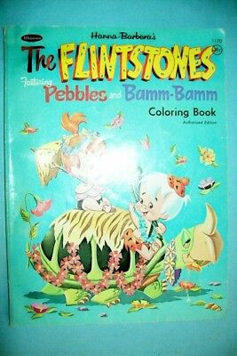 Vintage 1960s The Flintstones Featuring Pebbles & Bamm Coloring Book by Whitman