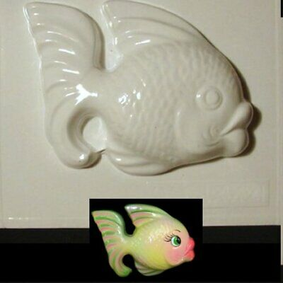 Plastic Mold Cute Fish Wall Plaque For Vintage And Retro Mermaid Bath