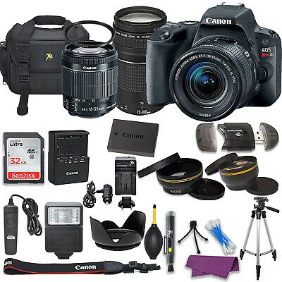 Canon EOS Rebel SL2 DSLR Camera with (2) Lenses and Professional Bundle