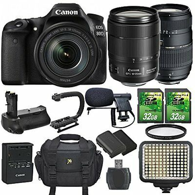 Canon EOS 80D Camera and EF-S 18-135mm f/3.5-5.6 IS USM Lens with Accessories