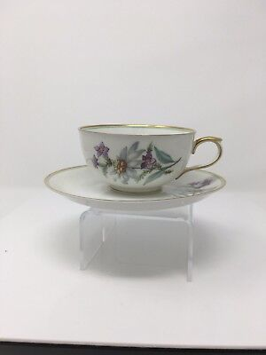 Vintage K & A Krautheim Selb Bavaria Germany Tea Cup & Saucer  Floral