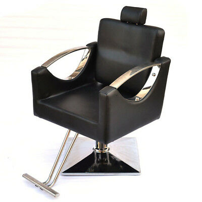 Recline Barber Chair Salon Hydraulic Hairdressing Tattoo Threading Shaving UK