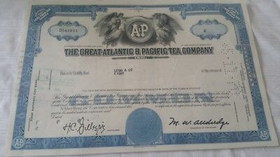 Alte Aktie The Great Atlantic & Pacific Tea Company!!!