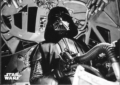 2018 Star Wars Black & White A New Hope #136 The Fearsome Darth Vader In-Flight
