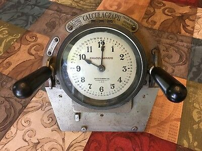 Vintage Clock Driver Calculagraph Nautical Brass Bezel Steampunk Collectible