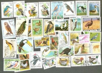 Birds 200 all different collection stamps