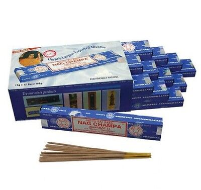 12 Packs Genuine & Original Satya Sai Baba Nag Champa Incense Agarbatti Sticks