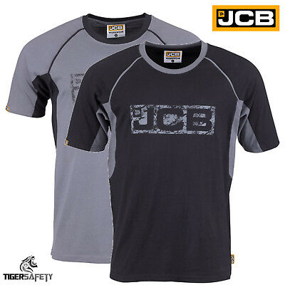 JCB Trade Heavyweight Mens Short Sleeve T-Shirt Work Tee Crew Neck Tee Shirt