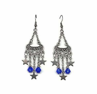 Earrings with Scottish Thistle and Celtic Heart Beads - Celtic Jewelry