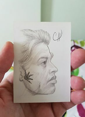 Star Trek Voyager 7 Of 9 Hand Drawn Sketch Card By Chris Henderson Aceo Psc